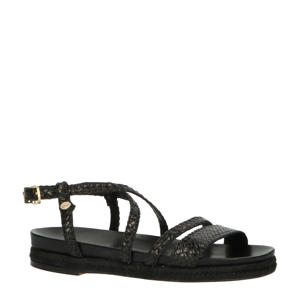 leren sandalen zwart
