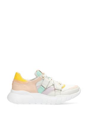 leren sneakers off white/multi