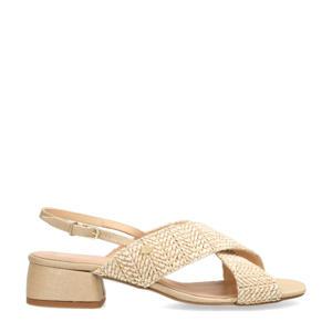 gevlochten sandalen beige