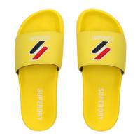 Superdry Sport Core Pool Slide  badslippers gee/donkerblauw/rood, Geel/donkerblauw/rood