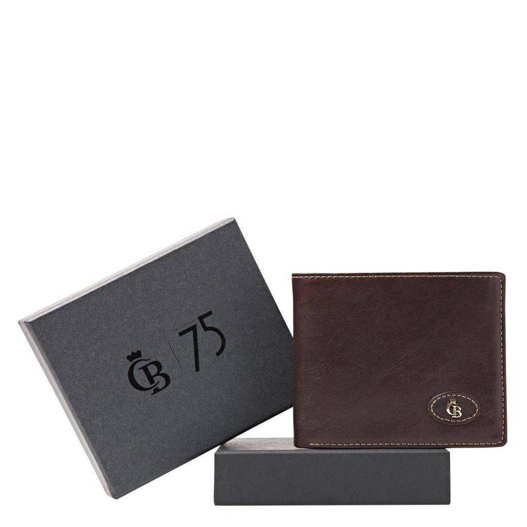 Castelijn & Beerens leren portemonnee + giftbox donkerbruin, Donkerbruin