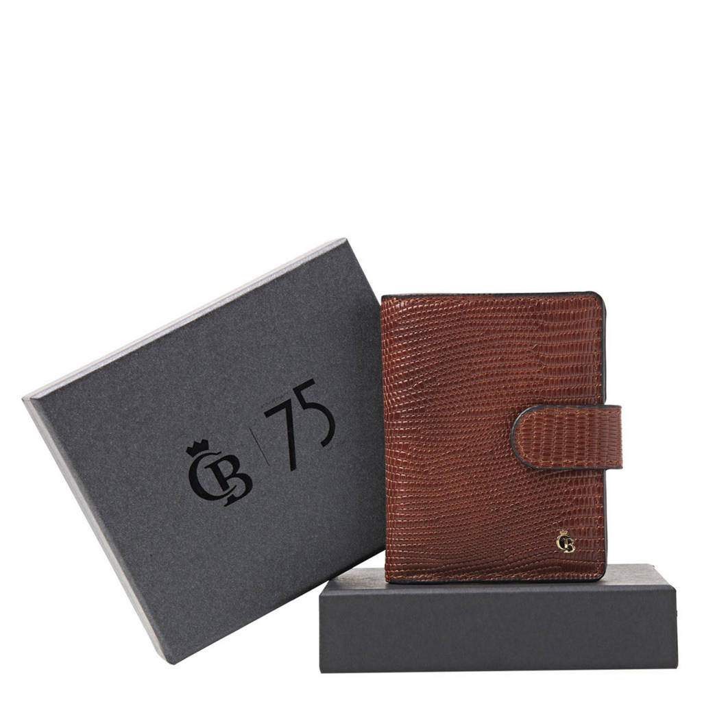 Castelijn & Beerens leren portemonnee met giftbox Mini Wallet cognac, Cognac