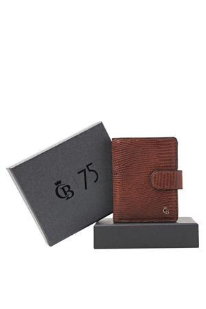 leren portemonnee met giftbox Mini Wallet cognac