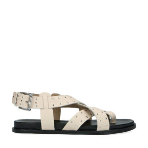 leren sandalen met studs off white