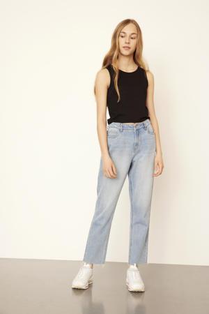 high waist mom jeans NLFRAVEN light denim