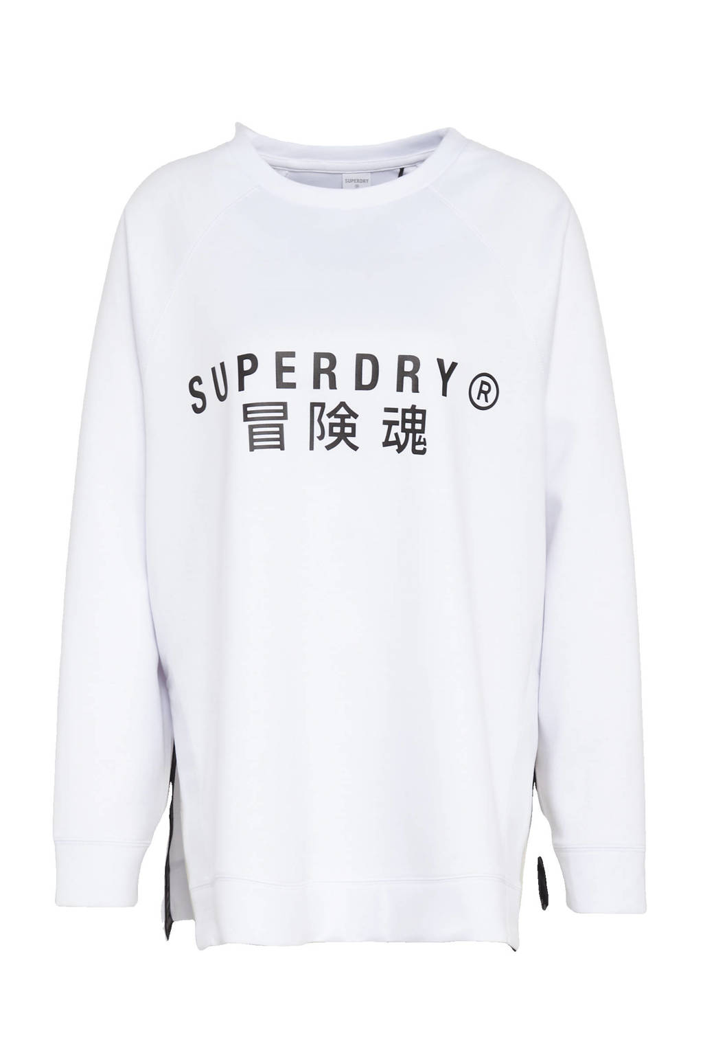 Superdry Sport sweater wit, Wit
