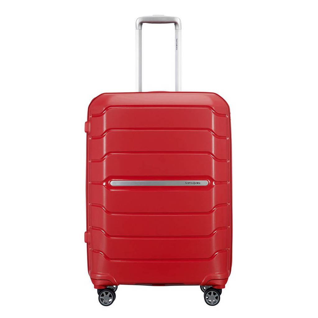 Samsonite  trolley Flux Spinner 68 cm. Expandable rood, Rood
