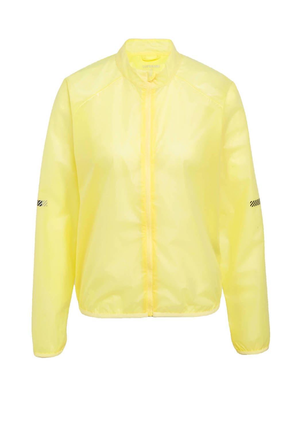 Superdry Sport hardloopjack geel, Geel