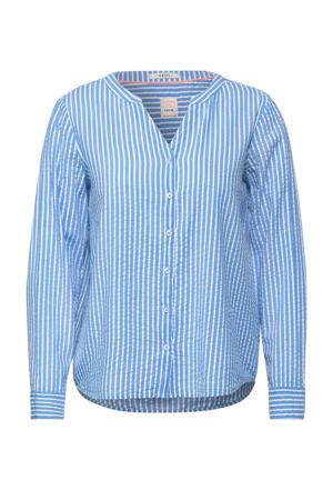 gestreepte blouse lichtblauw/wit