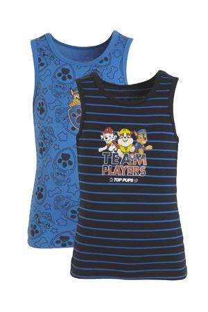 Paw Patrol hemd - set van 2 blauw/donkerblauw