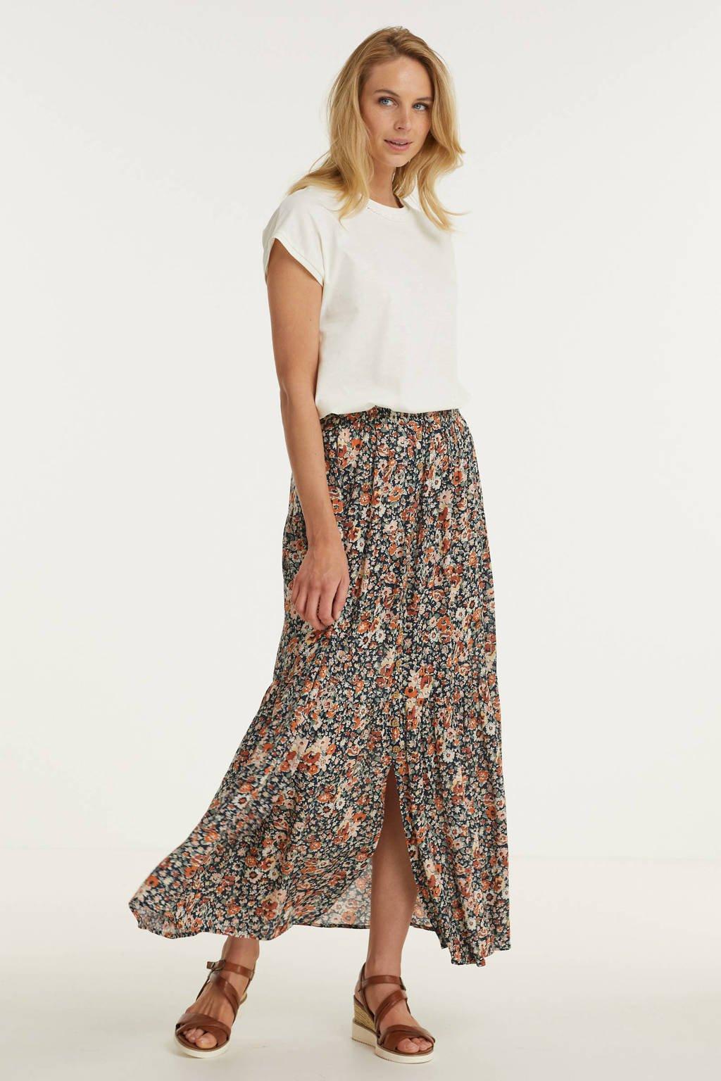 Imagine rok met bloemenprint zwart/multi, zwart/rood/oranje/groen