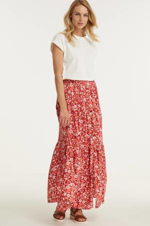 rok met bloemenprint rood/multi