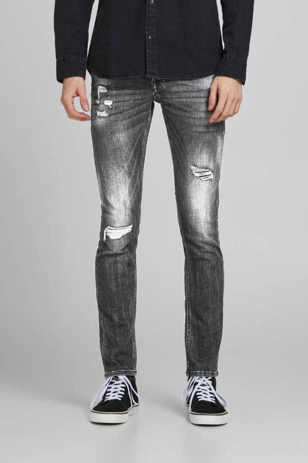 JACK & JONES JEANS INTELLIGENCE slim fit jeans Glenn Fox zwart, Zwart