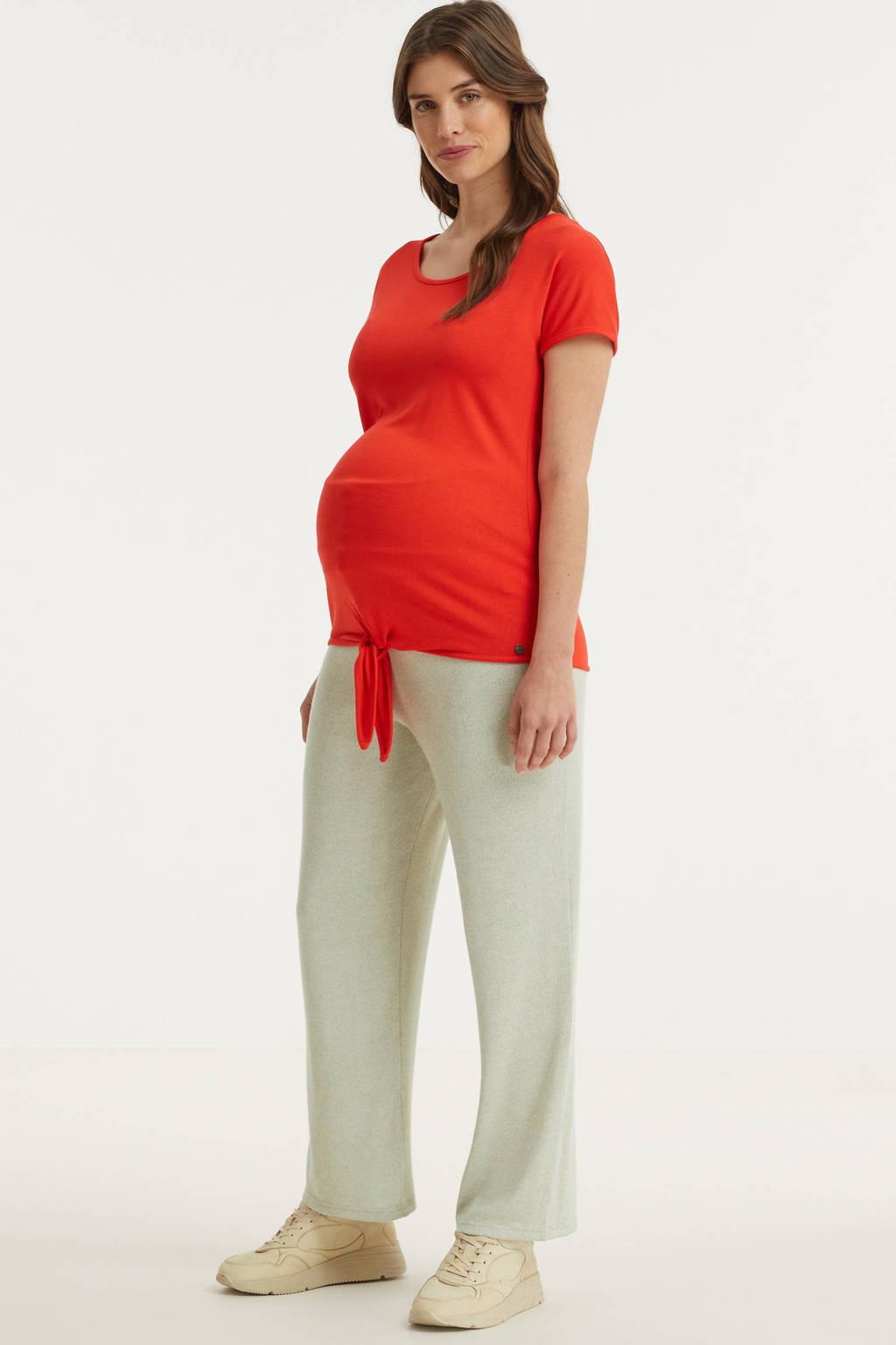 PIECES Maternity low waist wide leg zwangerschapsjoggingbroek PCMLEODA grijs/ecru, Grijs/ecru