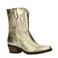 Foot Focus Valery  leren cowboylaarzen goud, Goud