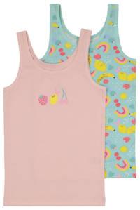 HEMA hemad - set van 2 roze/groen, Roze/groen