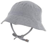 HEMA hoedje met strependessin blauw/wit, Blauw/wit