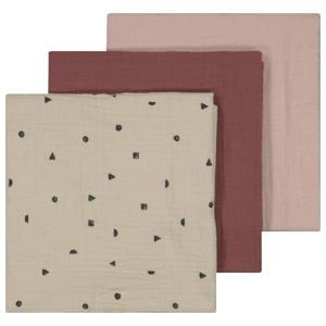hydrofiele luier - set van 3 60x60 cm roze/beige