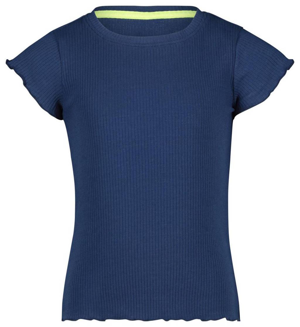 HEMA T-shirt blauw, Blauw