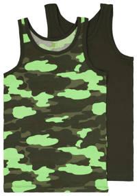 HEMA hemd - set van 2 camouflage groen, Groen/felgroen