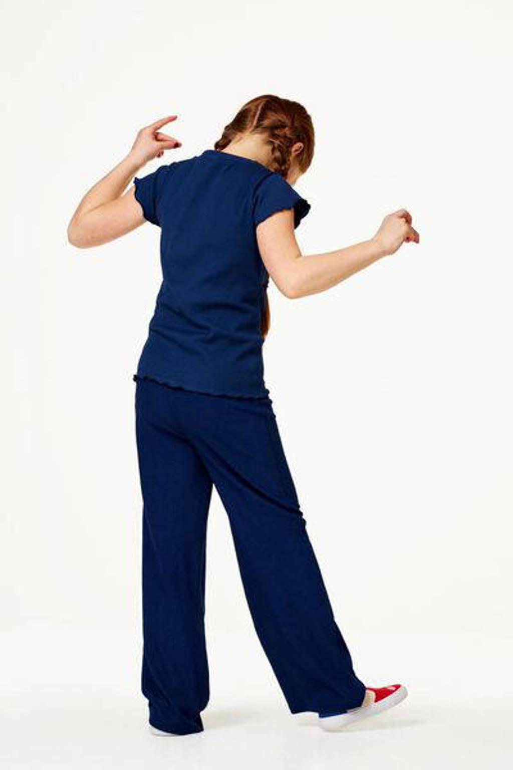 HEMA loose fit broek donkerblauw, Donkerblauw