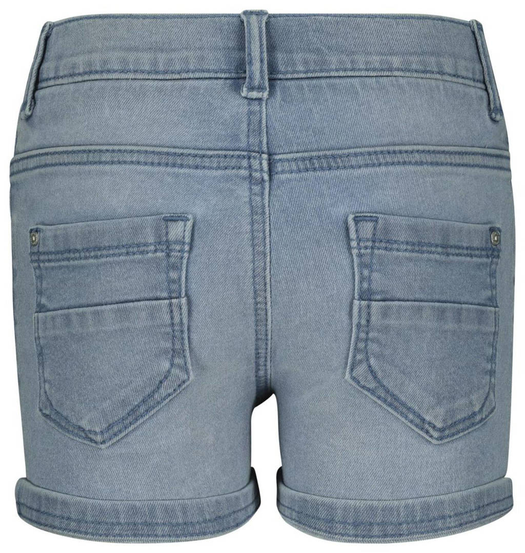 HEMA slim fit jeans short blauw, Blauw