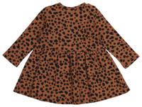 HEMA baby jurk met panterprint en plooien bruin/zwart, Bruin/zwart