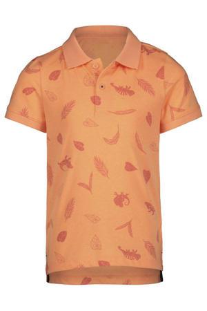 polo met all over print oranje