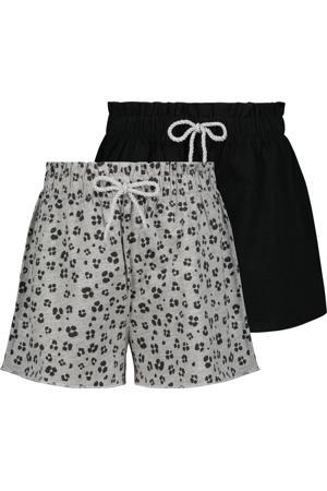 korte broek - set van 2 grijs/zwart