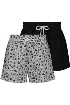 sweatshort - set van 2 grijs/zwart