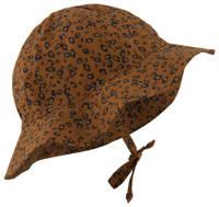 HEMA hoedje met panterprint bruin, Bruin/zwart