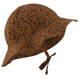 hoedje met panterprint bruin