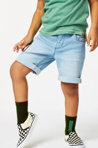 HEMA jog denim bermuda lichtblauw, Lichtblauw