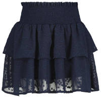 HEMA rok met borduursels donkerblauw, Donkerblauw