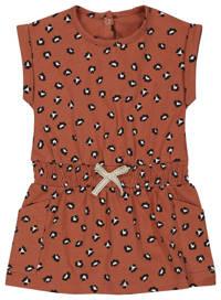 HEMA jurk met all over print bruin, Bruin