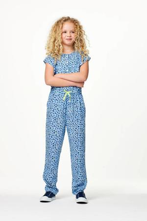 gebloemde jumpsuit blauw
