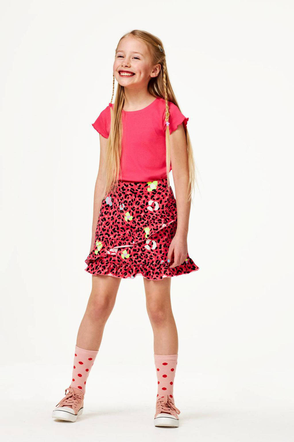 HEMA T-shirt roze, Roze