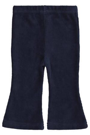 baby corduroy flared broek donkerblauw