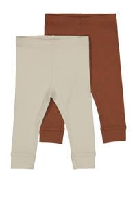 HEMA baby legging beige/camel - (set van 2), Beige/camel