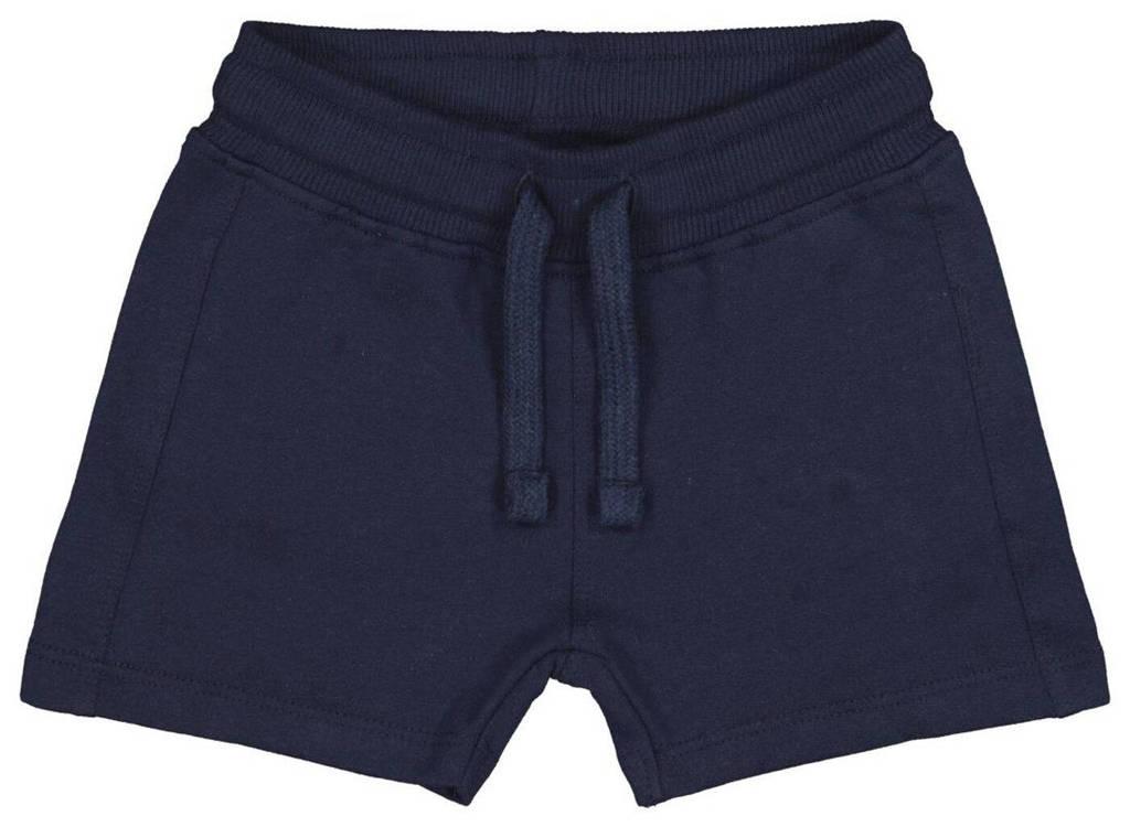 HEMA slim fit sweatshort donkerblauw, Donkerblauw