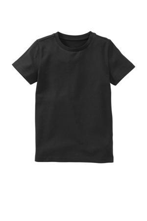basic T-shirt met biologisch katoen zwart