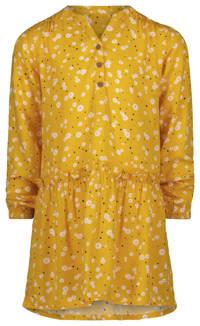HEMA gebloemde jurk geel/wit/roze/zwart, Geel/wit/roze/zwart