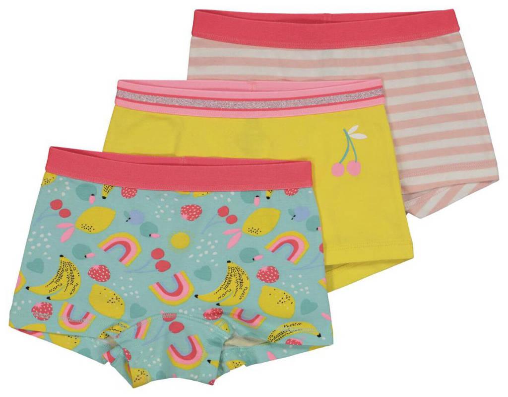 HEMA hipster - set van 3 groen/roze/geel, Groen/roze/geel