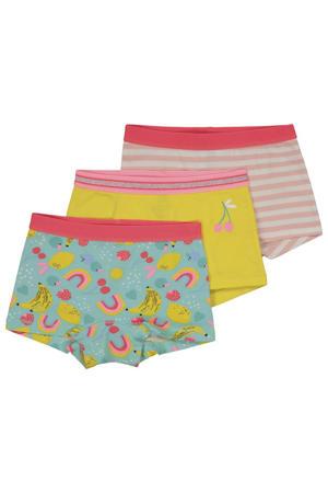 hipster - set van 3 groen/roze/geel