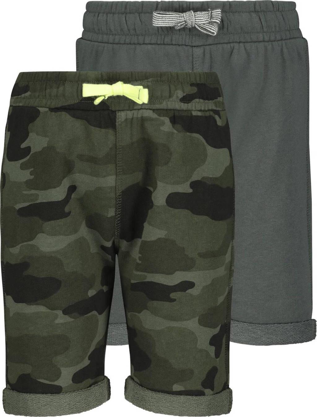 HEMA sweatshort - set van 2 groen, Groen