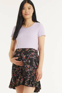 PIECES Maternity zwangerschapsrok PCMLALA met all over print zwart, Zwart