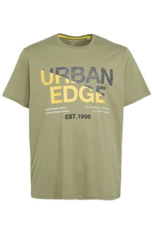 T-shirt Slices Plus Size met logo oil green
