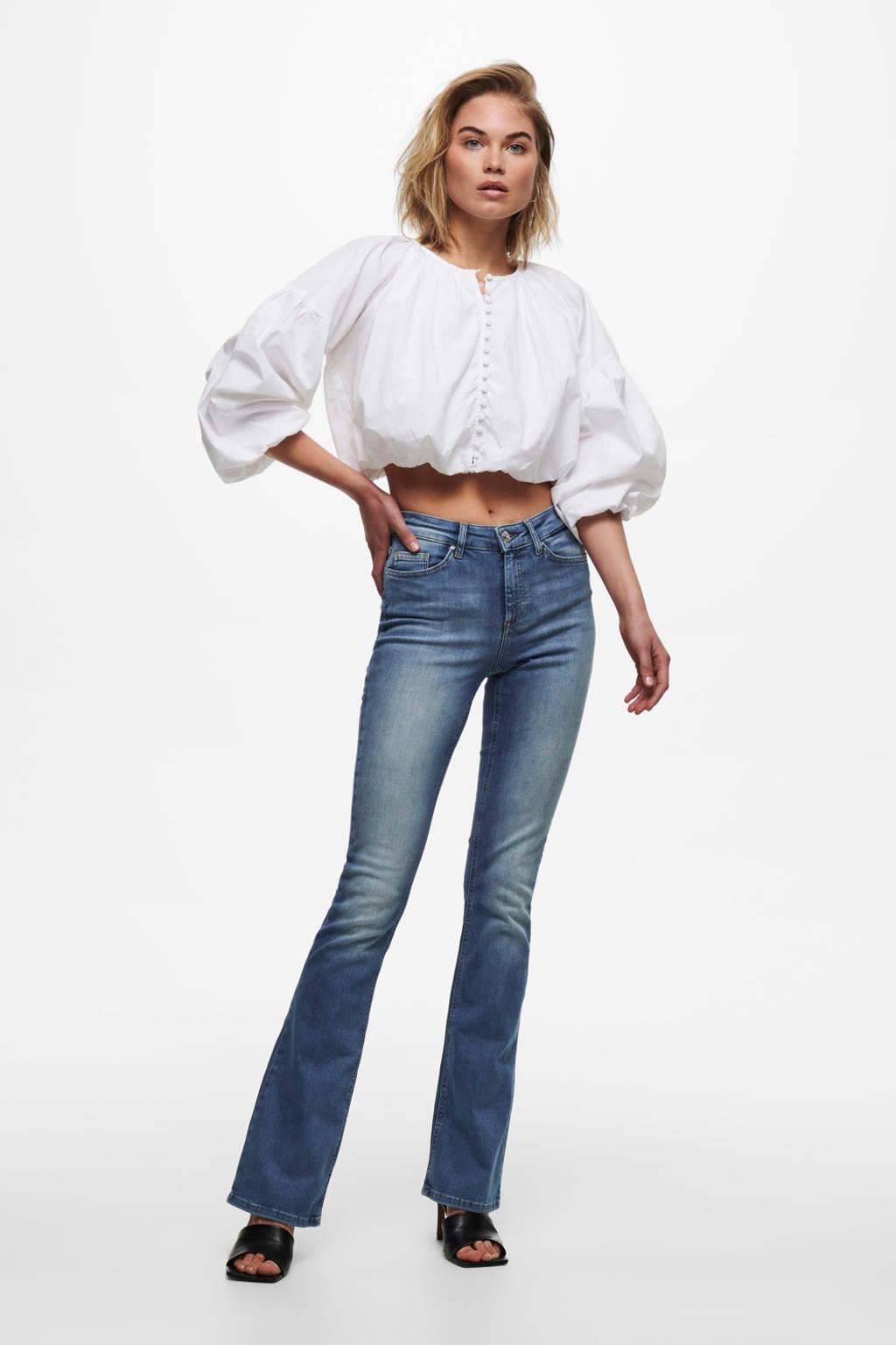 ONLY flared jeans ONLBLUSH medium blue denim, Medium blue denim