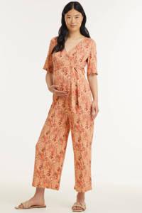 PIECES Maternity zwangerschaps- en voedingjumpsuit PCMDUNA met all over print roze, Roze