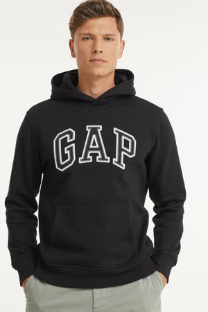 sweater met logo en borduursels zwart